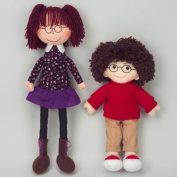 Dexter Educational Toys DEX306G Boy and Girl Dolls with Sewed-in Glasses