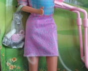 Barbie - Walking Barbie & New Baby Sister krissy Doll - 1999 Mattel
