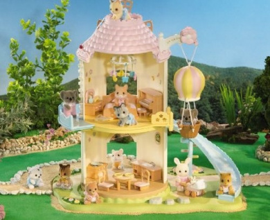 Calico Critters Windmill Baby Playhouse Playroom Bathroom 3 Sets. Calico Critters Windmill Baby Playhouse Playroom Bathroom 3 Sets