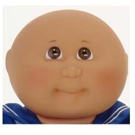 Naptime baby boy cabbage patch kids doll (medium tone, bald) by.