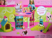 Barbie Stylin' Pup Pet Playset w 2 Pets