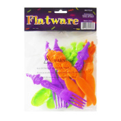 Plastic Fun Shaped Halloween Flatware- 12 pcs - Halloween Party