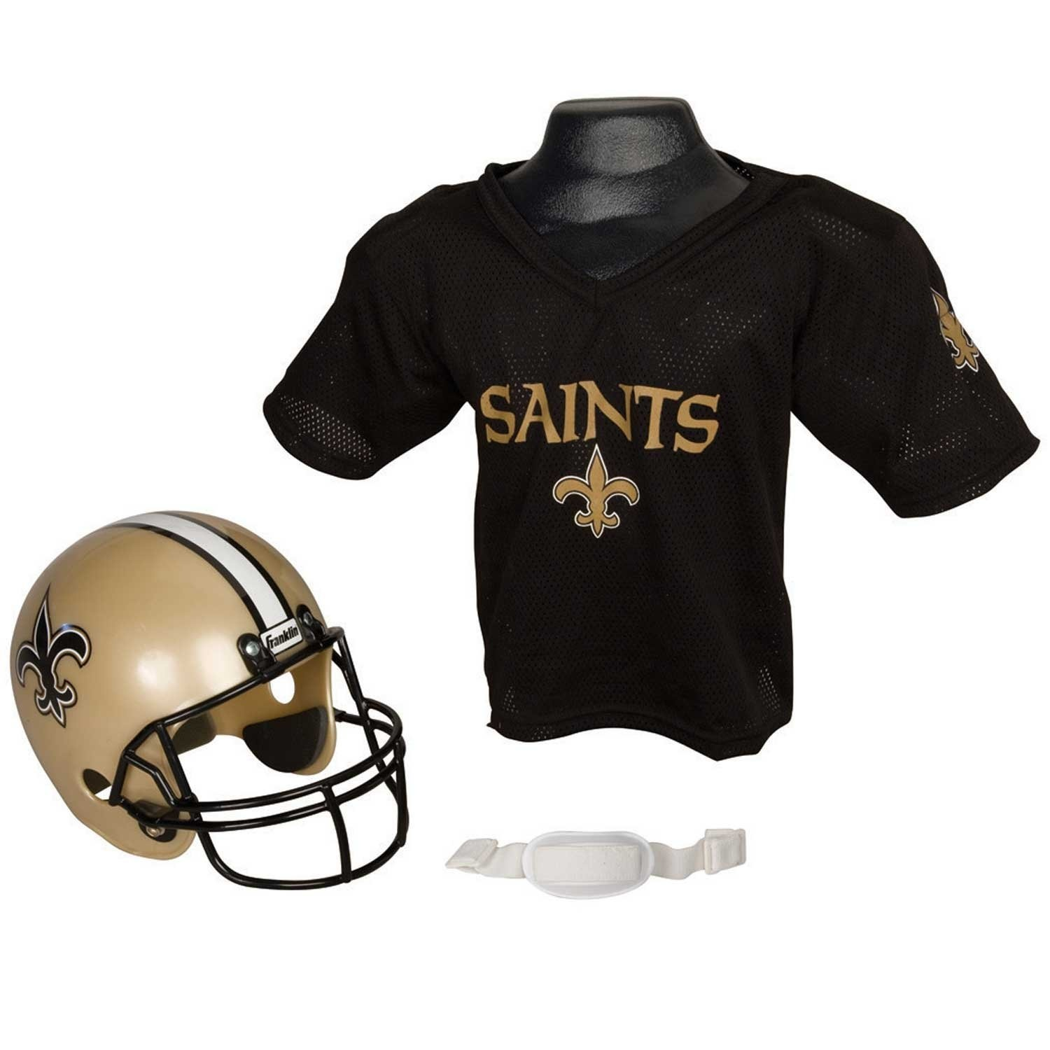 de1534bcbcc NFL New Orleans Saints Replica Youth Helmet and Jersey Set by ...