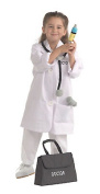 Dramatic Dress Up Set; Washable Doctor Coat; Black Medical Bag with Assorted Toys; no. BNWCDDV103