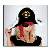 Plush Pirate Captain's Hat - Child Party Accessory (1 count)