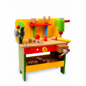 Wooden Toy Powertools Workbench By Bigjigs