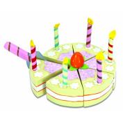 Le Toy Van Wooden Vanilla Birthday Cake Play Food