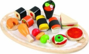 Voila Toys Wooden Tidbits and Appetizers Pretend Play Set