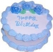 23cm Blue Birthday Cake Fake Food