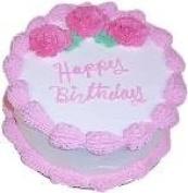 23cm Pink Birthday Cake Fake Food