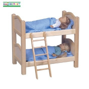 Guidecraft Doll Bunk Bed - Natural