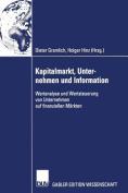 Kapitalmarkt, Unternehmen Und Information [GER]
