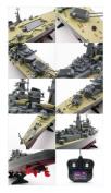 German Bismarck Military Battleship 1/360 RC 70cm Warship R/C Cruiser