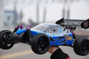 Blue * SHOCKWAVE BUGGY * 1/10 SCALE * RC NITRO BUGGY * by REDCAT RACING