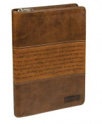 Strong and Courageous Journal Brown Luxleather