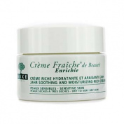 Creme Fraiche De Beaute Enrichie 24HR Soothing And Moisturising Rich Cream (Dry to Very Dry Sensitive Skin), 50ml/1.7oz