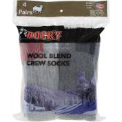 Rocky Wool Blend Sock, Large, Men's Shoe Size 8–12, 4-Pack