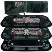 Trademark Poker Superior 3-in-1 Poker/Craps/Roulette Tri-Fold Table Top
