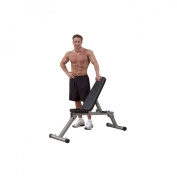 Best Fitness Folding Flat/Incline/Decline Bench - Black/ Silver