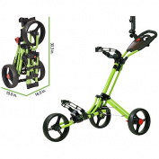CaddyTek CaddyLite ONE - 1-Click Folding Golf Push Cart