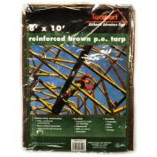 Texsport 8' x 10' Brown Reinforced Rip-Stop Polyethylene Tarps
