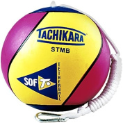 Tachikara STMB Super Soft Rubber Tetherball-Gold/Royal/Scarlet