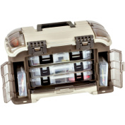Plano Guide Series Angled Tackle System with Six Utilities, Graphite/Sandstone