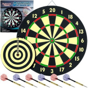 Trademark Global Game Room Dart Set with 6 Darts and Board