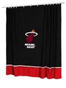 Sports Coverage Inc. Miami Heat Shower Curtain in Black