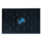 Fanmats 11442 NFL - 19 in. x30 in. - Detroit Lions Medallion Door Mat