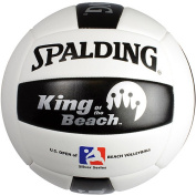 Spalding King of the Beach & US Open Replica Tour Volleyball, Silver Graphics
