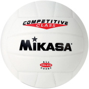Olympia Sports BA834P Mikasa VSL215 Syn. Leather Volleyball - White