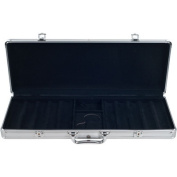 Trademark Poker 500 Capacity Aluminium Case, Black Interior
