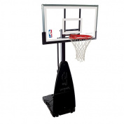 Spalding 68454 NBA Tempered Glass 140cm Screw Jack Portable Basketball System