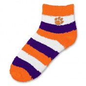 NCAA - Clemson Tigers Women's Pro Stripe Sleep Soft Socks