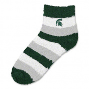 NCAA - Michigan State Spartans Women's Pro Stripe Sleep Soft Socks