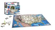 4D Cityscape USA History Time Puzzle, 950+ Pieces