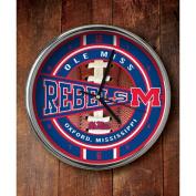 NCAA - Mississippi Rebels Chrome Clock