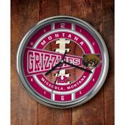 NCAA - Montana Grizzlies Chrome Clock