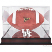 NCAA - Kentucky Wildcats Mahogany Base Logo Football Display Case, with Mirror Back