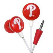 Ihip Philadelphia Phillies Earbuds MLB Printed Logo - MLF10169PHL
