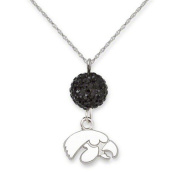 NCAA - Iowa Hawkeyes Ovation Sterling Silver Pendant Necklace