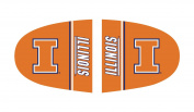 Fanmats 12062 COL - 6 in. x9 in. - University of Illinois Large Mirror Cover