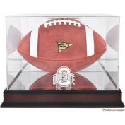 NCAA - Ohio State Buckeyes Mahogany Logo Football Display Case with Mirror Back
