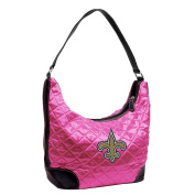NFL - New Orleans Saints Pink Quilted Hobo Purse