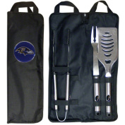 NFL 3-Piece BBQ Set with Canvas Case, Baltimore Ravens