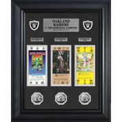 NFL - Oakland Raiders Framed Super Bowl Ticket and Game Coin Collection