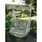 Magnolia Casual Summer Stripe Hammock Chair with Pillow Set