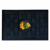 Fanmats 11466 NHL - 19 in. x30 in. - Chicago Blackhawks Medallion Door Mat