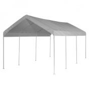 ShelterLogic 23522 10 ft. 20 ft. Canopy 1-.38 in. 8-Leg Frame White Cover